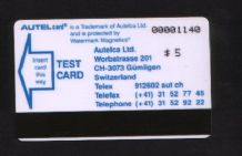 Phonecard Telephone card TEST Trial Autelca RARE #215